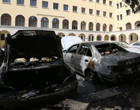 Arsonists attack church site in Athens 28