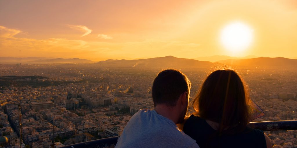 Sunset at Lycabettus photo by Why Athens City Guide