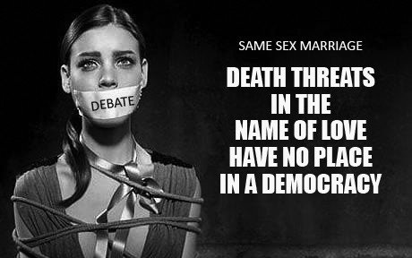 Death threats in the name of love have no place in a democracy 15