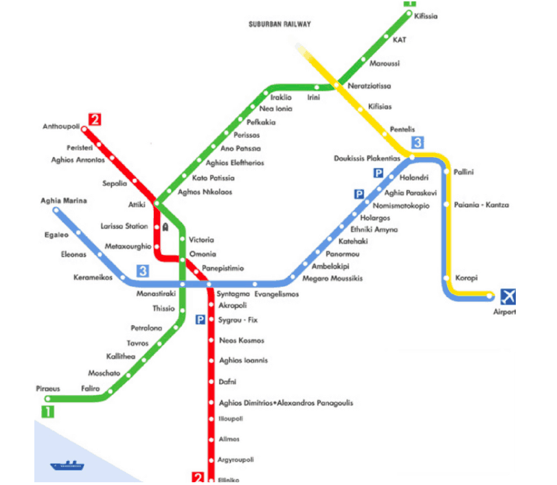 Athens First Ever Metro Bar Map