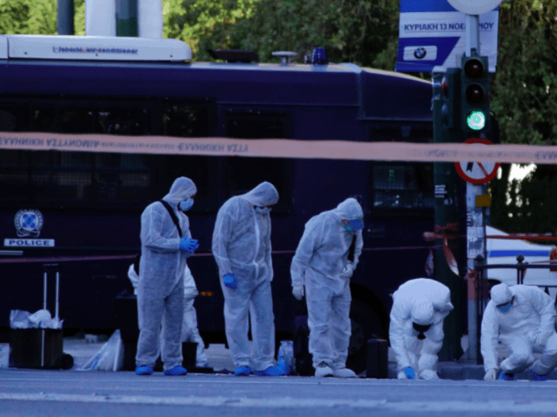 Terrorist attack outside French Embassy in Athens 13