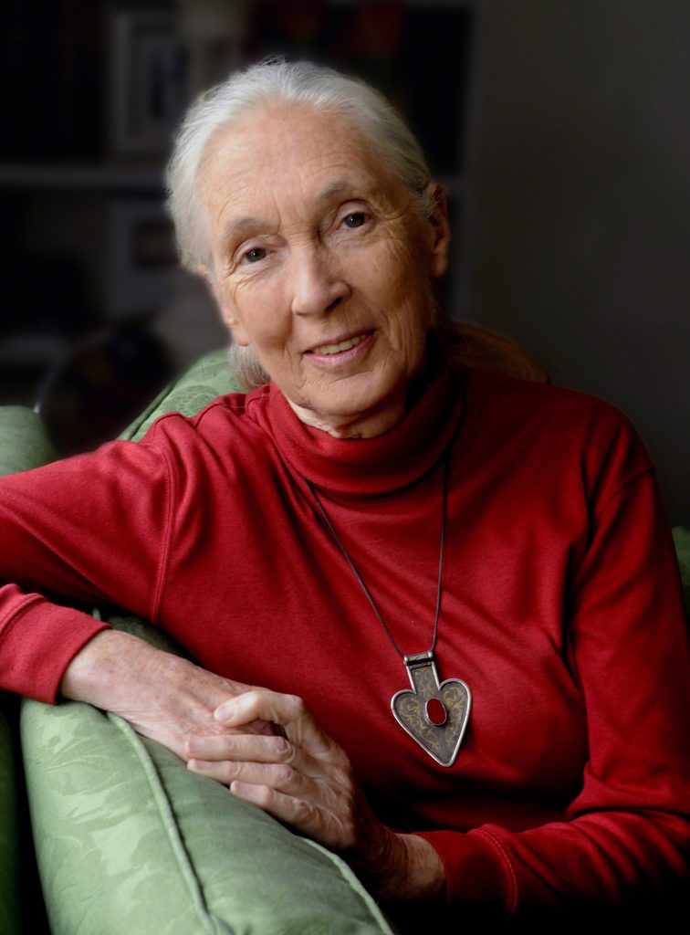 Dr. Jane Goodall, DBE, UN Messenger of Peace, (Image by Stuart Clarke)