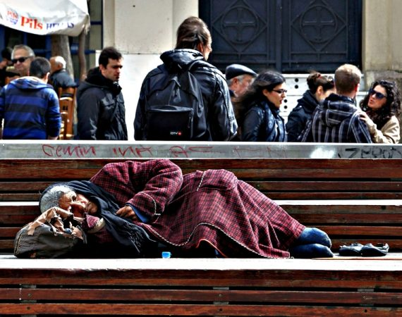 Athens metro becomes shelter for homeless 12