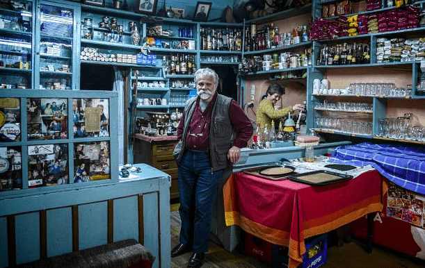 'Napoleon the Great' and his 174 year old traditional Kafeneionin Kalarites 13