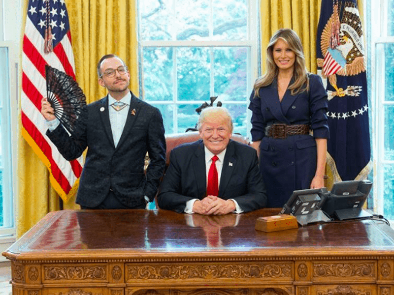 Greek American teacher's photo with Trump & First Lady goes viral 25