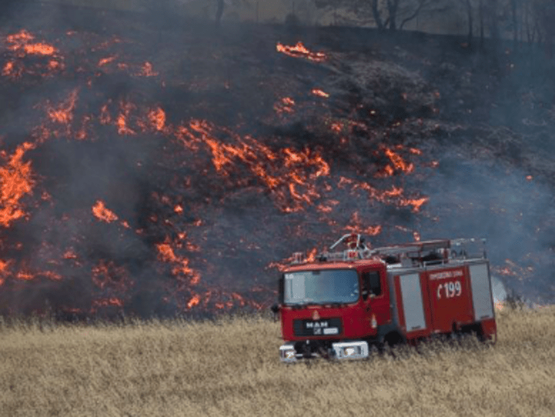 Cyprus helps Greece battle with wildfires 5