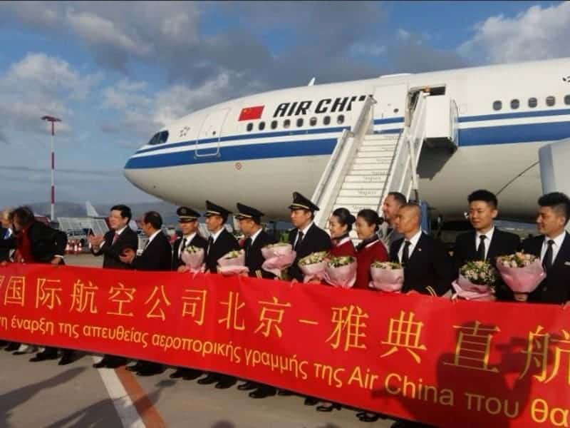 China lands in Athens as direct flights take off 4
