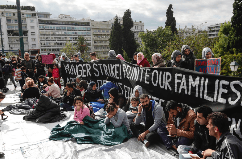 Syrian refugees launch hunger strike in Athens  7