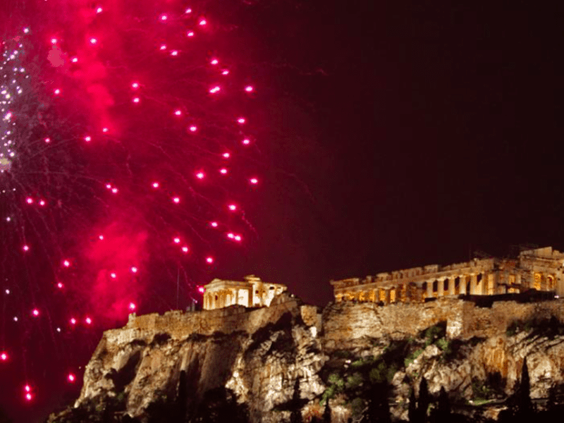Bringing in the New Year in Athens 24