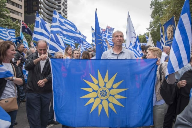 'Macedonia is Greece' Rally in Melbourne, Australia 37