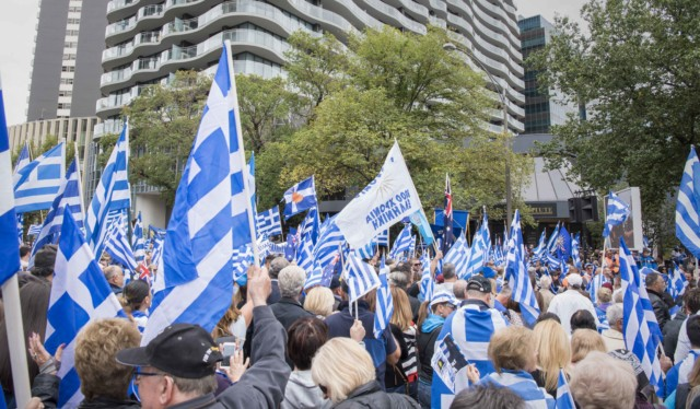 'Macedonia is Greece' Rally in Melbourne, Australia 35