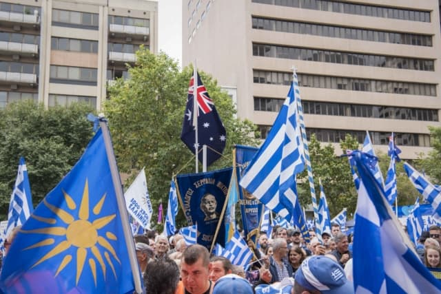'Macedonia is Greece' Rally in Melbourne, Australia 34