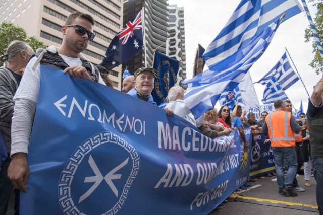 'Macedonia is Greece' Rally in Melbourne, Australia 33