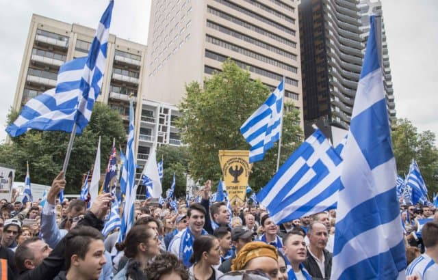 'Macedonia is Greece' Rally in Melbourne, Australia 16