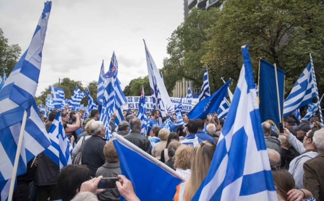 'Macedonia is Greece' Rally in Melbourne, Australia 39