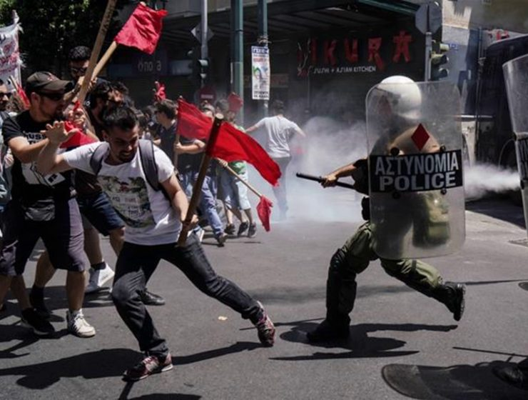 Greeks take to the streets to protest austerity 10