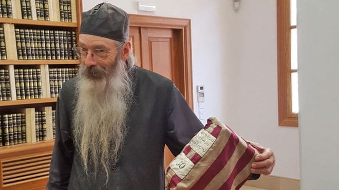 Greek Monk in Egypt in charge of bringing library at St Catherine's into 21st Century 2