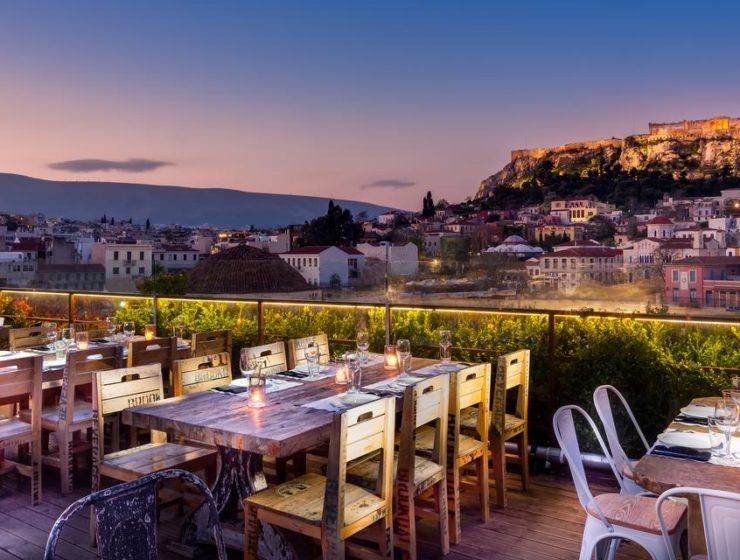 Kuzina in Athens serving delicious dishes with a view 32