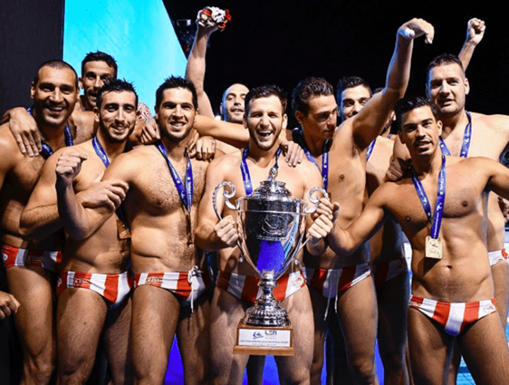 Olympiacos Mens' Water Polo Team crowned Champions of Europe 22