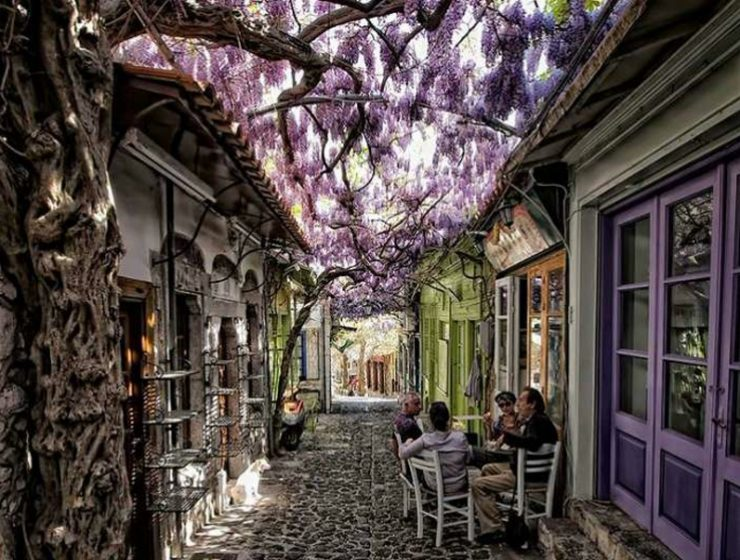 Taking a stroll through Molyvos, home to the world's most beautiful street 1