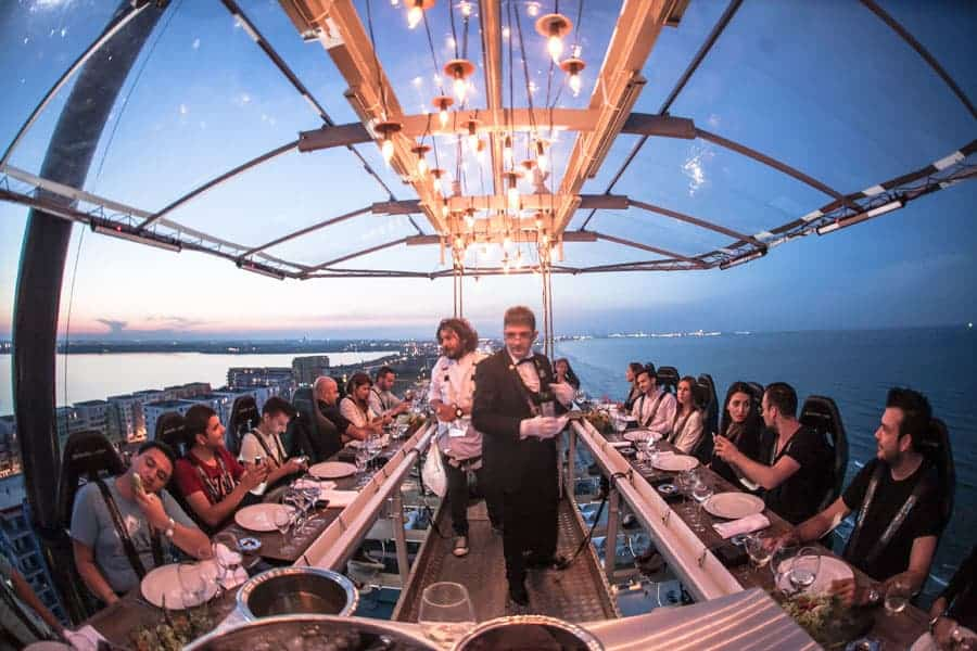 dinner in the sky Athens