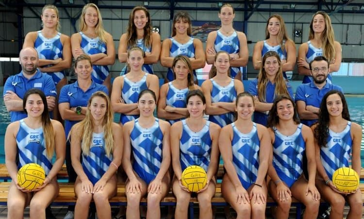 Women's Greek water polo team