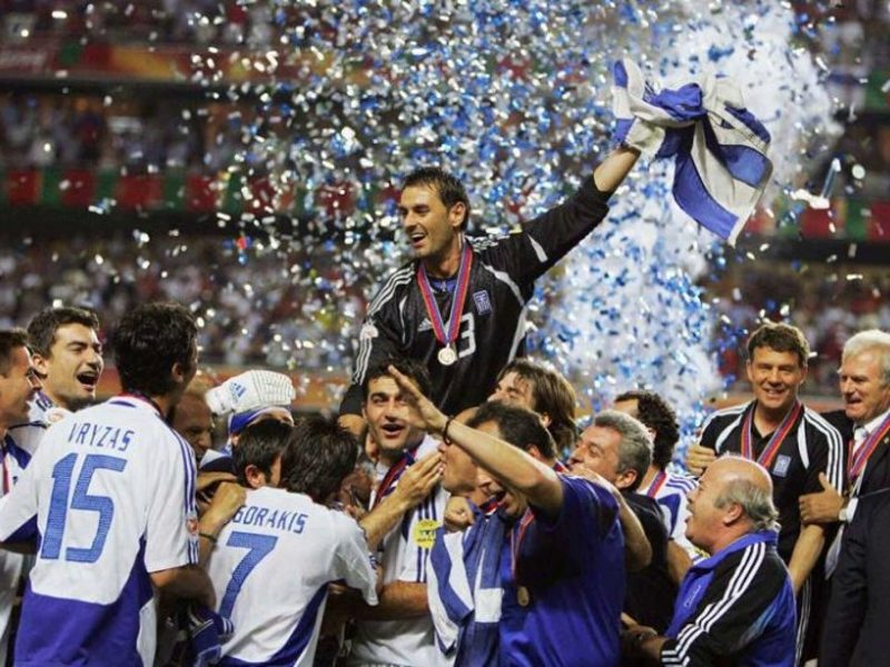 On this day in 2004 Greece wins the Euro Cup