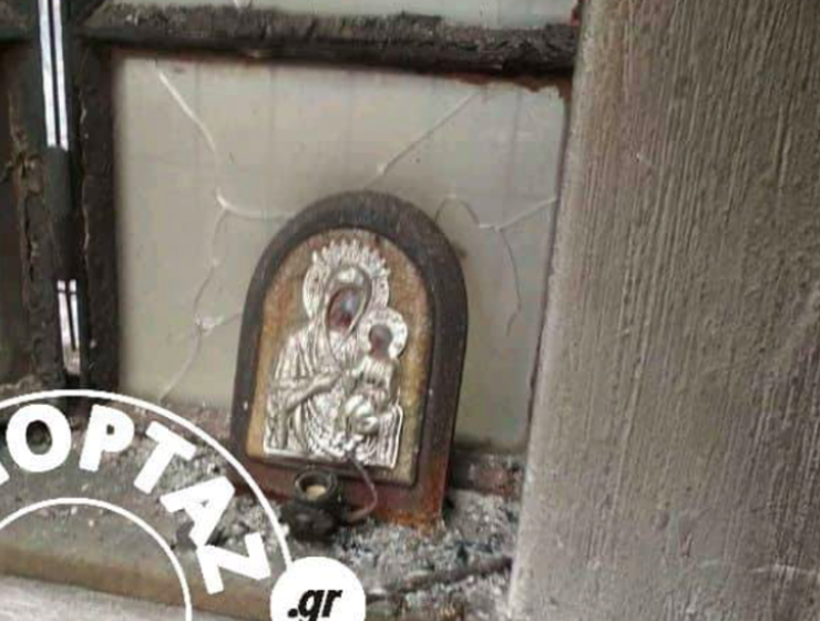 Icon of Panagia left standing as House Burns down 19