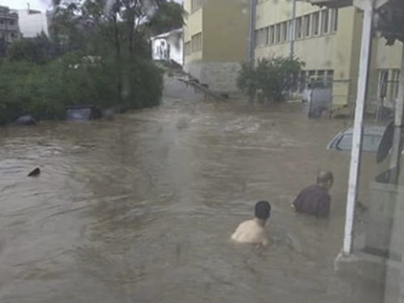 Heavy storms and floods hit Athens 1