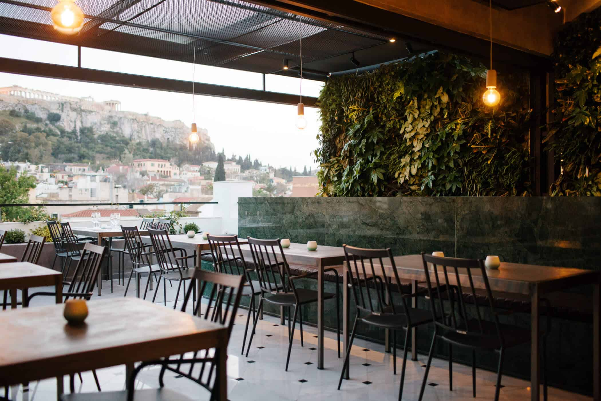 Athens Rooftop Garden Bar With The Finest View Greek City Times