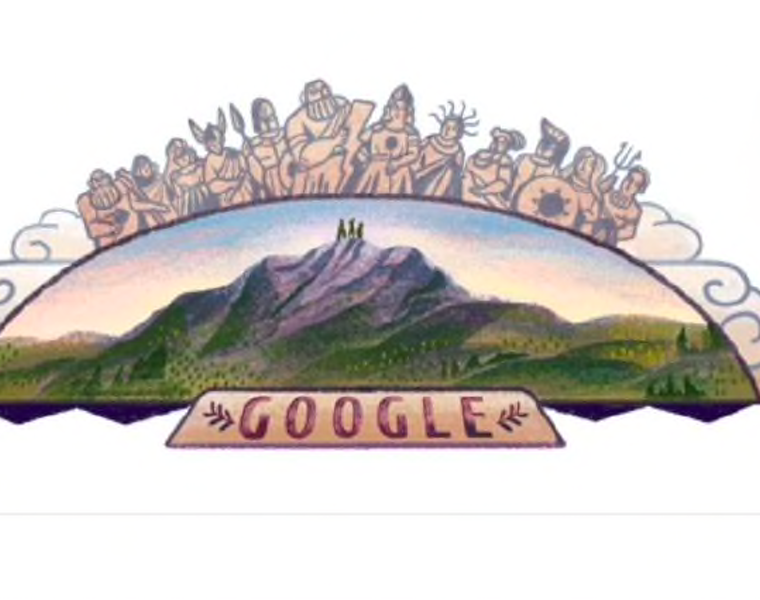 Greece's Mount Olympus honoured with a Google Doodle today 9