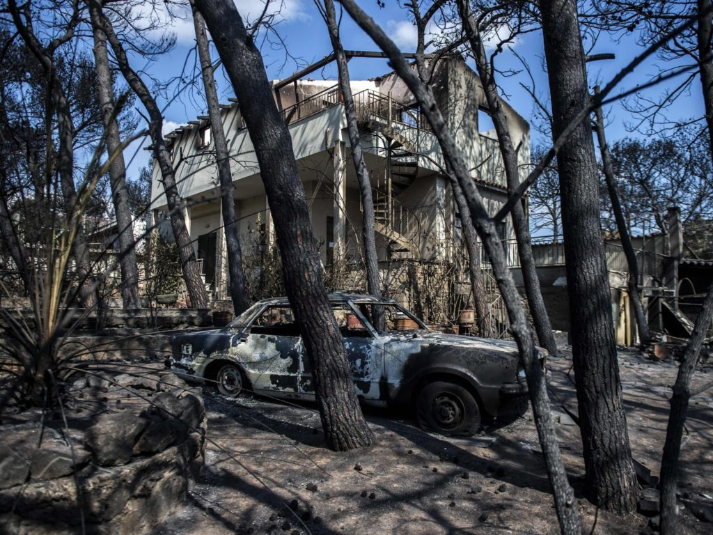 Death toll reaches 95 from Greek wildfires 1
