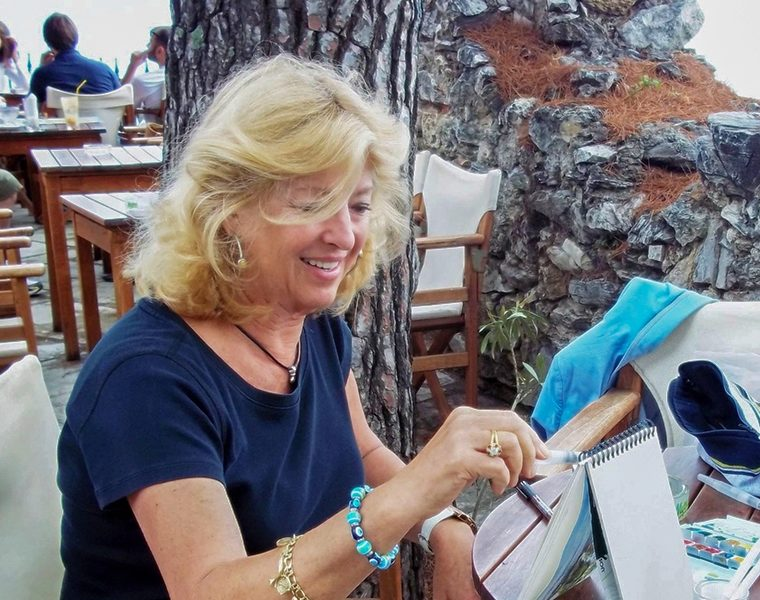 How an acclaimed artists' love of Greece led her to calling Poros home 9