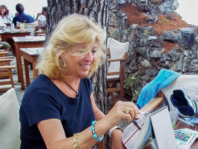 How an acclaimed artists' love of Greece led her to calling Poros home 1