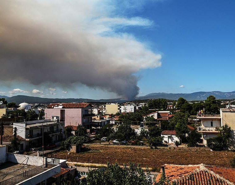 Villages evacuated as wildfire rages on Greek island of Evia 1