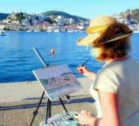 How an acclaimed artists' love of Greece led her to calling Poros home 4