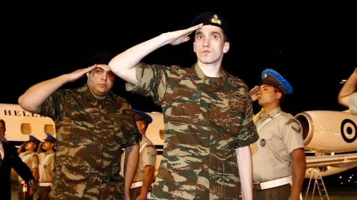 Greek soldiers released
