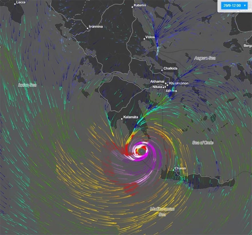 Greece's civil protection services on high alert as tropical-like cyclone is expected 10