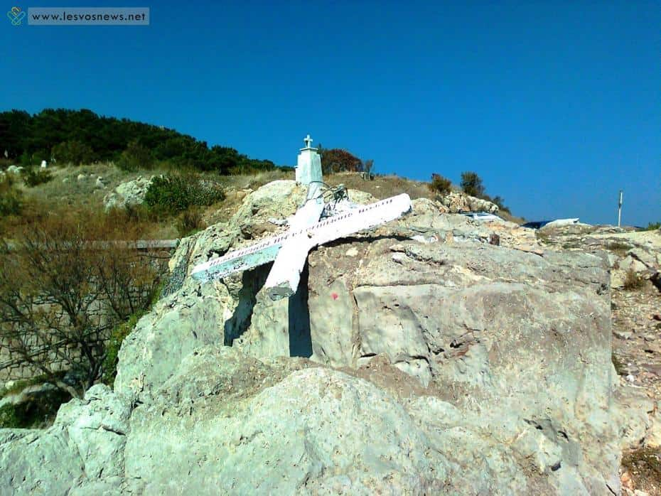 Cross in Lesvos pulled down after coexistence group on the island claims it's offensive to migrants 5