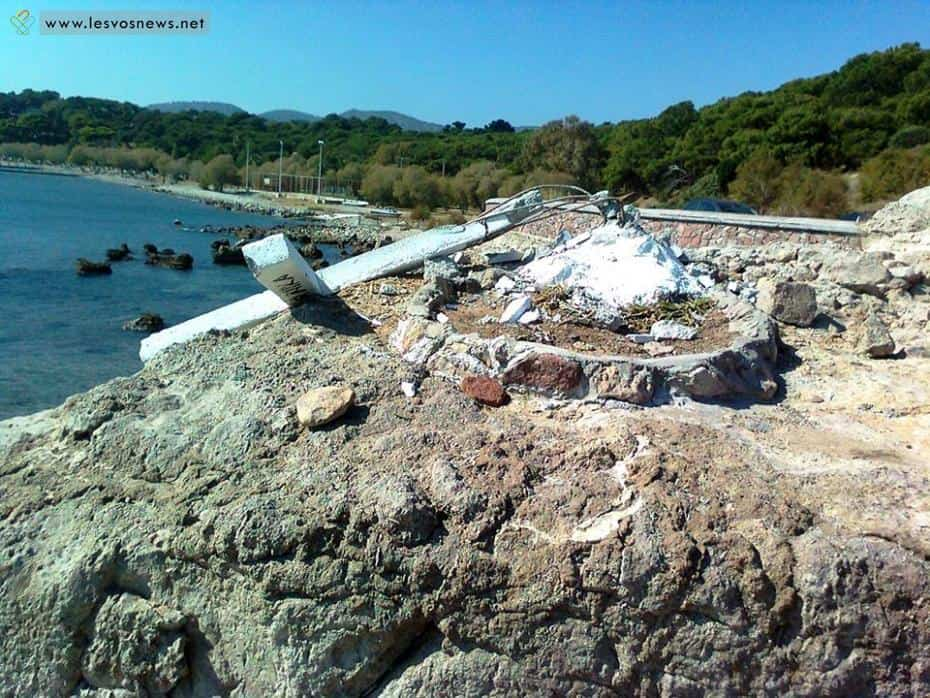 Cross in Lesvos pulled down after coexistence group on the island claims it's offensive to migrants 7