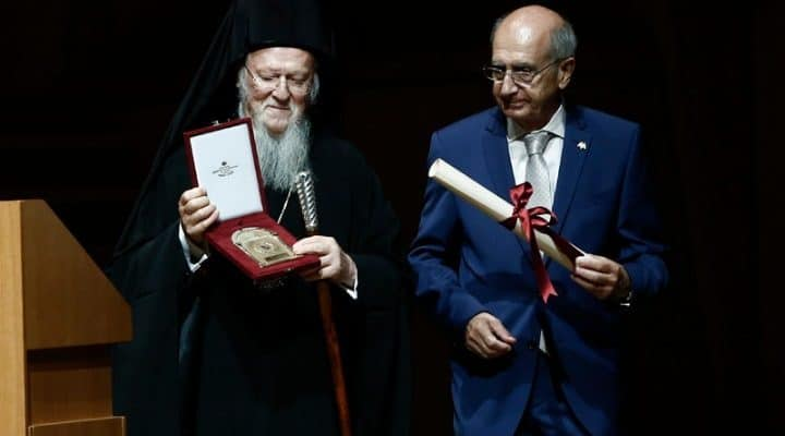 Greek Parliament awards Ecumenical Patriarch for his environmental work 2