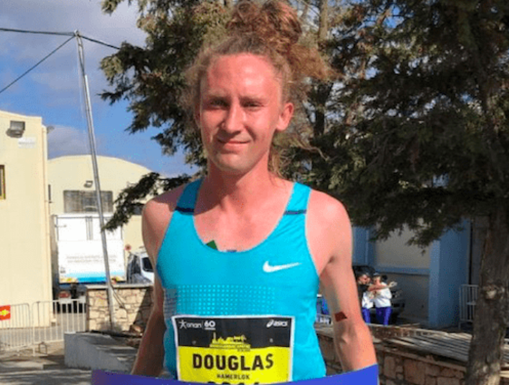 Australian athlete crosses the finishing line first at the 4th Semi-Marathon of Crete 13