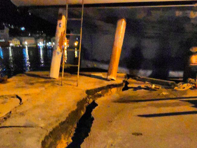 Schools and services in Zakynthos to remain closed after massive earthquake hits (PICS) 1