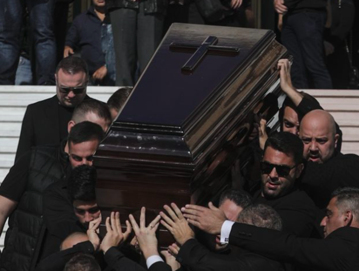 John Macris' funeral held in Athens before body being flown back to Australia 31