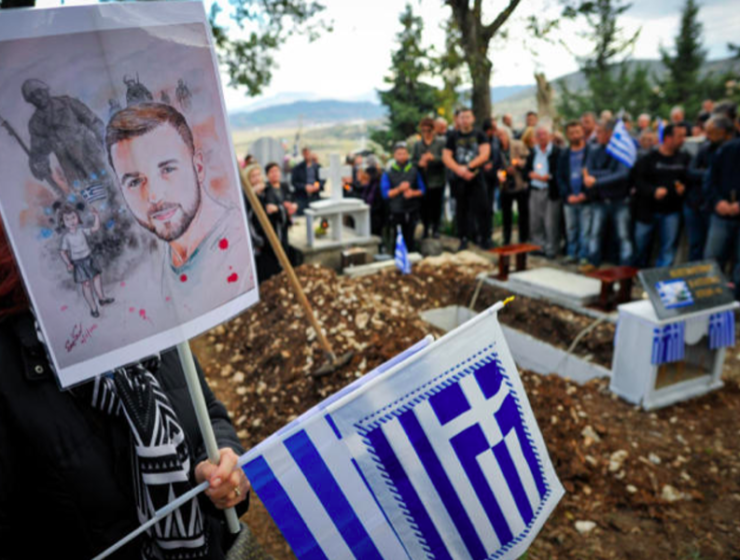 Konstantinos Katsifas' family finally lay him to rest at his village 5