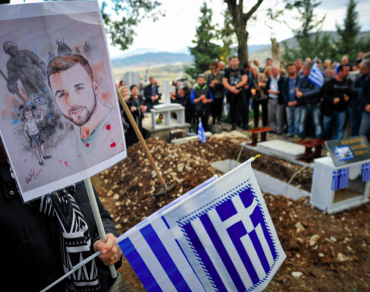 Konstantinos Katsifas' family finally lay him to rest at his village 3