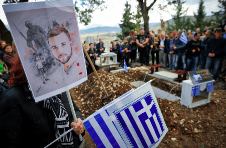 Konstantinos Katsifas' family finally lay him to rest at his village 4