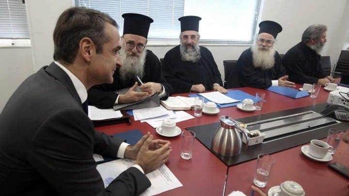 Mitsotakis meets with Holy Synod delegation amid 'schism' of Church and State 35