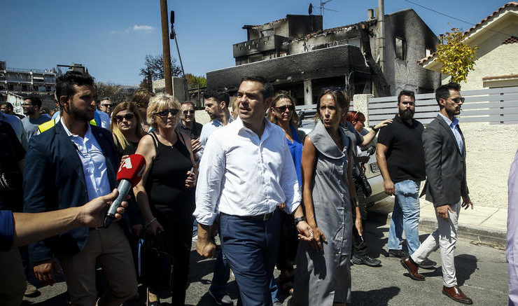 PM Tsipras makes assessment visit to fire-stricken Mati 8