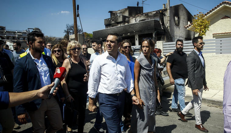 PM Tsipras makes assessment visit to fire-stricken Mati 22